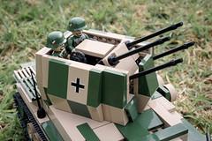 "COBI Flakpanzer IV ""Wirbelwind"" MOC (Adam Purves (S3ISOR)) Tags: cobi smallarmy worldwar2 worldwarii ww2 wwii panzer flakpanzer flakpanzeriv wirbelwind german tank aa antiaircraft brick block lego moc tigerii tiger"