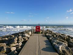 Branksome Beach (dawn.v) Tags: branksomebeach poole dorset uk england october 2016 seaside beach sand sea coast lumixlx100 groyne waves