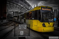 ManchesterVictoria2016.10.09-2 (Robert Mann MA Photography) Tags: manchester manchestervictoria manchestercitycentre greatermanchester england victoria victoriastation manchestervictoriastation manchestervictoriarailstation victoriarailstation city cities citycentre architecture summer 2016 sunday 9thoctober2016 manchestermetrolink metrolink trams tram nightscape nightscapes night light lighttrails