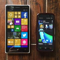 Nokia Lumia 830 and Nokia 5800 XpresMusic