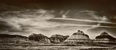 Arizona landscape (Antarehs) Tags: arizona southwest monochrome landscapes chemtrails americansouthwest