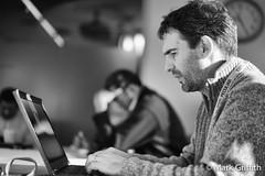 Working Man (Mark Griffith) Tags: seattle work washington amazon amazoncom eps sonya7 chrisbrowder silverefexpro2 20141117dsc06942edit