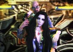 Subway Snuggles (Spirit Eleonara) Tags: life light shadow colour photography alley hard second