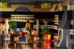 Homer (Peter von Kappel) Tags: christmas xmas holiday tree brick apple cup hat office holidays imac floor lego desk bricks simpsons fez homer thesimpsons minifig build homersimpson minifigure moc minifigures