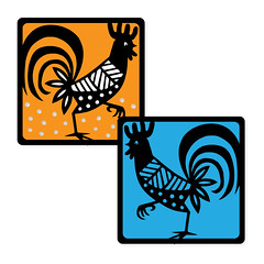 rooster-square-cards1 (emily dyer) Tags: silhouette card folded greetingcard svg papercut diecut foldedcard