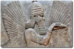 Detail of a Blessing Genie (our cultural archives) Tags: 721705 mesopotamia ancientiraq blessinggenie ancientcivilization paris ancientdursharrukin louvremuseum kingsargonii catecopenhaver