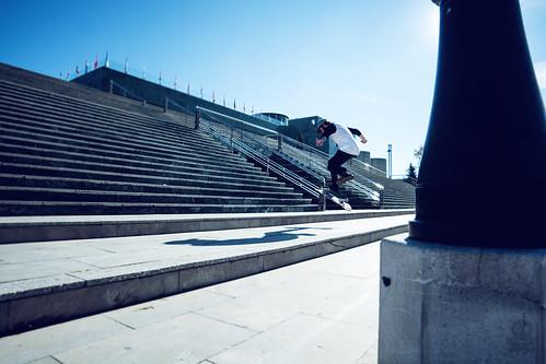 Fakie 360 flip - Raul Morales