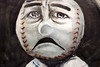 Sad Mr. Met (Depression Press) Tags: watercolor baseball mascot stitches mets fastball mlb newyorkmets mrmet teammascot chicagoart chicagoartdepartment citifield armtheinpeng