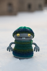 Uglyworld #2550 - Brass Monkeys - (Project On My Tods - Image 15-365) (www.bazpics.com) Tags: new york blue winter snow ny cold ice wool cookies self project myself toy blog day alone state action handmade capital crochet january vinyl knit freezing website freeze figure albany jumper monkeys 365 adventures custom uglydoll brass tod 15th uglydolls babo 2015 uglyworld prettyugly barryoneilphotography adventuresinuglyworld uglyadventures onmytod