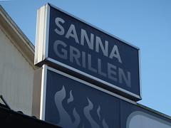 Sanna Grillen - the True Grill House (Eva the Weaver) Tags: true sign flames grill sanna flickrbingo notonmycard flickrbingo3g50