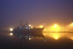 A foggy morning (Philippe POUVREAU) Tags: fog port harbor ship harbour foggy estuary vladivostok loire brouillard saintnazaire 2014 militaryship loireatlantique smolny smolniy portsaintnazaire naviremilitaire navirerusse