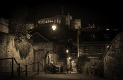 Edinburgh Castle (JamboEastbourne) Tags: old night scotland town edinburgh place nightscape nightime browns grassmarket herriot caslte vennel