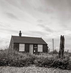 Prospect Cottage #1, Dungeness, 2014. (Dave Green Photo) Tags: november england blackandwhite 6x6 tlr square mono kodak trix dungeness derekjarman prospectcottage southcoast mpp 2014 xtol romneymarsh twinlens microcord