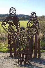 Caerleon cycle path metal sculpture