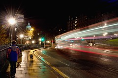 City Lights (BigCam2013) Tags: edinburghchristmas afterdark bigcam2013 christmas city citycentre citylights edinburgh gardens longexposure nightshots nikond3200 nikon scotland streetlights oldtown themoundedinburgh photographer edinburghphotographer thisisedinburgh lighttrails bus