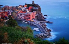 vernazza in the blue hour (Rex Montalban Photography) Tags: italy europe liguria cinqueterre vernazza hdr neutraldensityfilter bw110 nd10 nikond600 rexmontalbanphotography