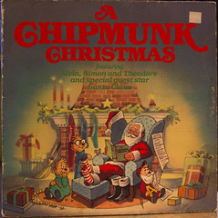 A Chipmunk Christmas (rumimume) Tags: christmas music holiday ontario canada art canon vintage photo still album sigma niagara chipmunk memory record audio picoftheday 2014 550d t2i rumimume song33rpm