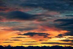 Winter Morning Over the Cascades (Joseph Eckert) Tags: morning winter red orange cloud sun mountain mountains yellow clouds sunrise early nikon colorful december cloudy cascades nikkor cascade f4 cascademountains 70200mm d800e