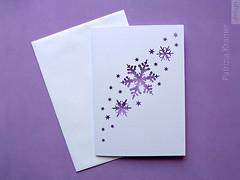 Karte   »Schneeflocken« (Patrizia Kramer) Tags: snowflake christmas winter white paper weihnachten lights licht cut karte card papier pastell schneeflocke