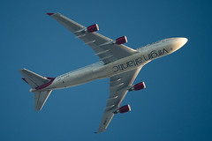 Virgin Atlantic Boeing 747-443 G-VROM (Thames Air) Tags: virgin atlantic boeing 747443 gvrom contrails telescope dobsonian overhead vapour trail