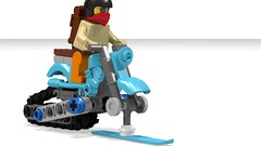 Lego Motorcycle Snowmobile (Polar Expedition Version) (hajdekr) Tags: snow ski bike mobile lego transport arctic chainlink tricks motorbike help tips motorcycle instruct