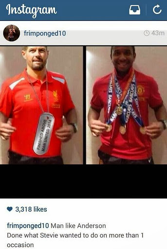 Arsenal Reject Emmanuel Frimpong Mocks Steven Gerrard On Instagram (Photo)
