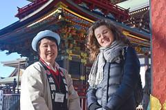 Smiling guide (malinowy) Tags: winter portrait japan 35mm temple nikon buddhist nippon nikkor zima narita sylwia naritasan honshu shingon japonia swiatynia malinowy d7000 shinshōji malinowynet