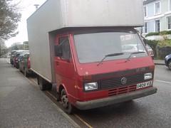VW LT35 Box Van (occama) Tags: red vw volkswagen box stealth van camper luton lt lt35 g409vul