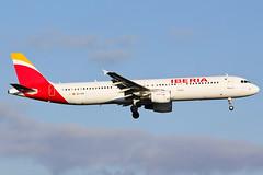 EC-IXD Iberia A321 at Heathrow EGLL (AeroPics) Tags: iberia a321 egll ibe londonheathrowairport ecixd runway09l