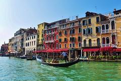 Sunny, colorful Venice - 2014 (stevelamb007) Tags: venice people italy boat canal nikon italia gondola venise italie grandcanal rialto veneto hotelmarconi d90 sanpolo stevelamb