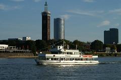 Rheinland (3) (Rolf H.) Tags: ship sightseeing cologne kln riverboat rhine rhein schiff roundtrip messeturm fahrgastschiff rundfahrtschiff luxwerft klntourist