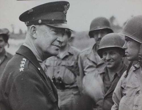 Ike with the troops, just like Trump.  Oh I forgot.  It's just too dangerous for him to go there.