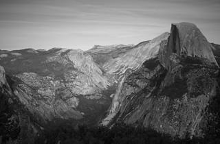 Half Dome and Tanaya Canyon (B&W): Yosemite National Park {Explore}