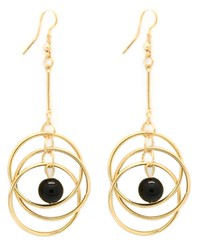 5th Avenue Black Earrings P5110-1