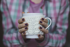 """Knitted"" cup of tea (katerin palna) Tags: winter portrait selfportrait home cup girl self cozy warm purple tea girly room knit knitted selfie 5014 600d canoneos600d"