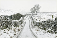 Goat Scar Lane (Digital Wanderings) Tags: snow yorkshiredales stainforth goatscarlane goosekerlane