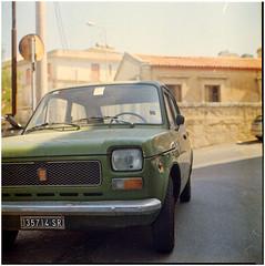 .con coraggio gentilmente dolcemente viaggiare (Herr Benini) Tags: auto car analog italia fiat 127 sicily sicilia kiev88 fiat127