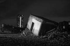 Building (BRHendriks) Tags: longexposure white black building netherlands night photography nikon nacht room nederland demolition groningen zwart wit gebouw sloop kamer d90