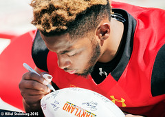 Maryland_White_on_Red_20160416_1344.jpg (hillels) Tags: park game college sports field sport photography one football spring team dj outdoor stadium maryland capitol practice terps byrd durkin collegepark testudo byrdstadium terp capitolonefield djdurkin