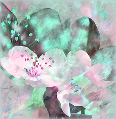 Blossom Pastel (virtually_supine) Tags: pink abstract green photomanipulation spring blossom creative textures digitalpainting montage expressionist layers paintdaubs digitalartwork darkstrokes photoshopelements9and13 vividpasteltones challenge1420~pinkandgreen~theawardtree