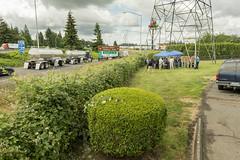 Gathering at the Aurora-Donald Interchange (OregonDOT) Tags: i5 legislature interstate5 woodburn legislators oregondot willamettevalleyi5corridortour