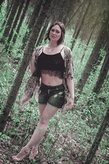 Girl in the Forest (Keltron - Thanks for 7 Million Views!) Tags: modeling megan brunette prettygirl select longlegs beautifulgirl hotgirl cutoffs alaskangirls girlinaforest anchoragegirls