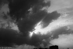 Cloud formation... (EHA73) Tags: leica sky blackandwhite bw sun clouds skies dramatic kuwait sunrays leicamp summiluxm11450asph typ240