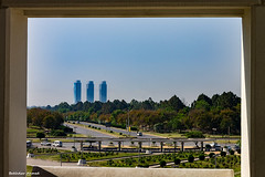 Looking Out (Bakhtiar PWR) Tags: road city trees pakistan sky urban building architecture cityscape framed frame islamabad