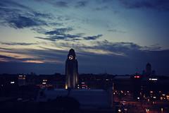 sleepless in helsinki (rosipaw) Tags: clouds sunrise dawn helsinki cityscape time clocktower nightsky 52in2016