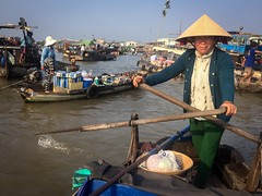 floating market of Cn Th XII (grapfapan) Tags: street travel woman river boat vietnamese market vietnam floatingmarket