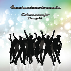 Portada_cuarentanosonnada (_ jmr) Tags: friends boy party people woman abstract man male girl silhouette female youth disco dance team friend couple dancing background pair crowd group young silhouettes celebration casual celebrate vector youngsters eps10 cuarentanosonnada
