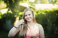 Anna (Niks Freimanis) Tags: blue light portrait sun sunlight girl beautiful canon eyes iii graduation 85mm baltic latvia blonde 5d 18 mk portrets latvija