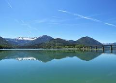 Sylvensteinsee , Germany (adr.vesa) Tags: bridge panorama nature germany bayern bavaria reflexion sylvensteinsee