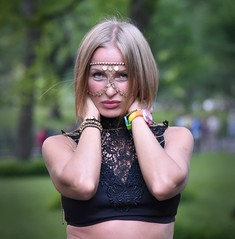 YK in Central Park (bdizzleNYC) Tags: portrait woman beautiful centralpark exotic portraiture blonde mysterious gypsy